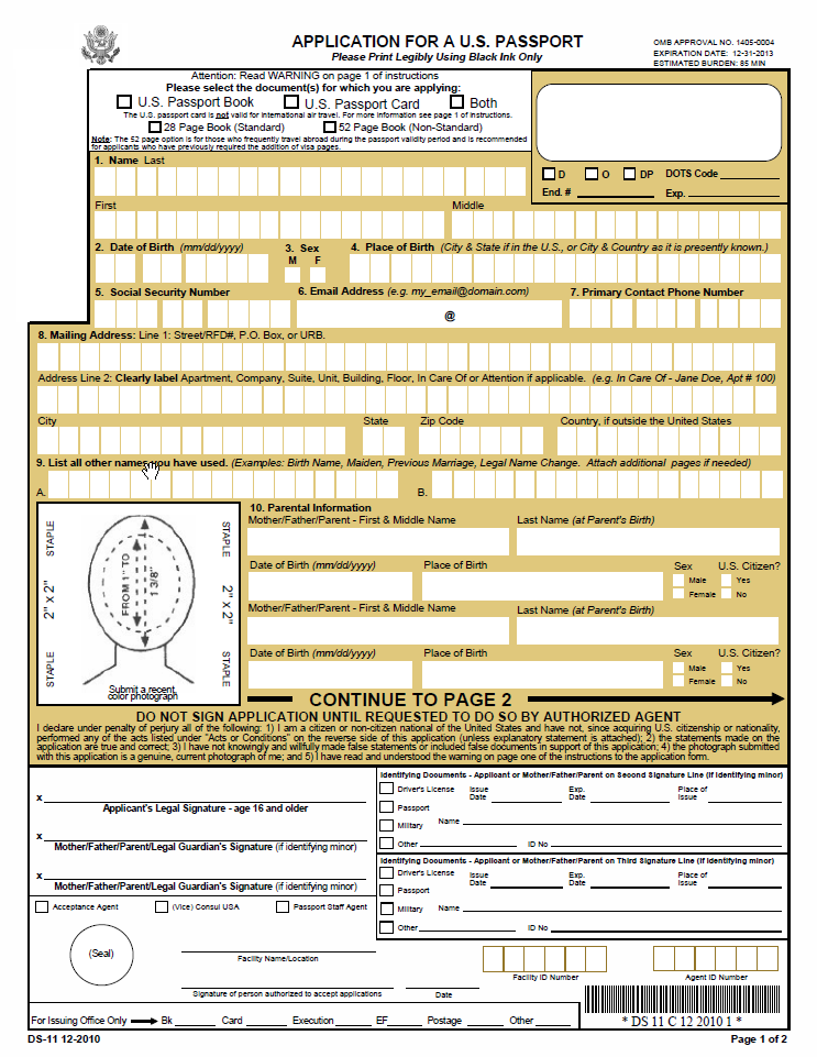 The Boring Document: The US Passport Application